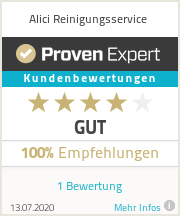 Erfahrungen & Bewertungen zu Alici Reinigungsservice
