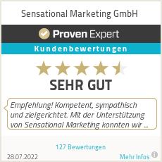 Erfahrungen & Bewertungen zu SENSational Marketing
