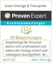 Erfahrungen & Bewertungen zu Scout Umzüge & Transporte