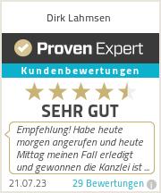 Erfahrungen & Bewertungen zu Dirk Lahmsen