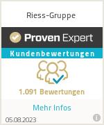 Erfahrungen & Bewertungen zu Riess-Gruppe