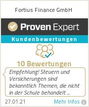 Erfahrungen & Bewertungen zu Fortius Finance GmbH