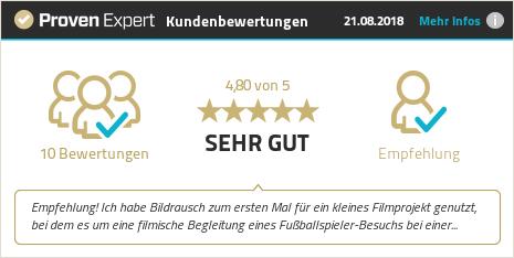 Erfahrungen & Bewertungen zu Bildrausch Videoproduktion GmbH anzeigen