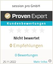 Erfahrungen & Bewertungen zu session pro GmbH