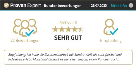 Kundenbewertungen & Erfahrungen zu Sandra Weiß. Mehr Infos anzeigen.