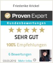 Erfahrungen & Bewertungen zu Friederike Krickel