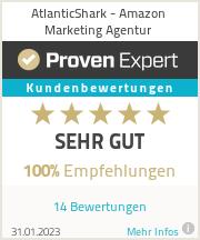 Erfahrungen & Bewertungen zu AtlanticShark - Amazon Marketing Agentur