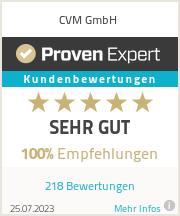 Erfahrungen & Bewertungen zu CVM GmbH