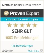 Erfahrungen & Bewertungen zu Matthias Köhler I Trauerredner