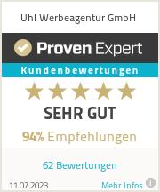 Erfahrungen & Bewertungen zu Uhl Werbeagentur GmbH