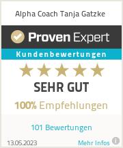 Erfahrungen & Bewertungen zu Alpha - Coach - Tanja Gatzke