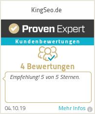 Erfahrungen & Bewertungen zu KingSeo.de