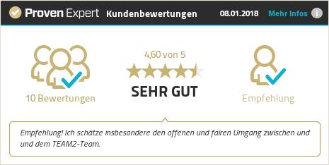 Erfahrungen & Bewertungen zu TEAM2 Digital GmbH anzeigen
