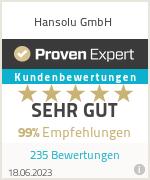 Erfahrungen & Bewertungen zu Hansolu GmbH