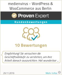 Erfahrungen & Bewertungen zu medienvirus - WordPress & WooCommerce aus Berlin