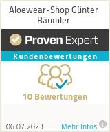 Erfahrungen & Bewertungen zu Aloewear-Shop Günter Bäumler