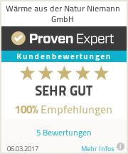 Erfahrungen & Bewertungen zu Wärme aus der Natur Niemann GmbH