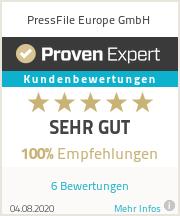 Erfahrungen & Bewertungen zu PressFile Europe GmbH