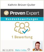 Erfahrungen & Bewertungen zu Kathrin Brüser-Quiter