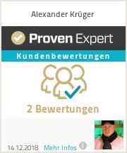 Erfahrungen & Bewertungen zu Alexander Krüger