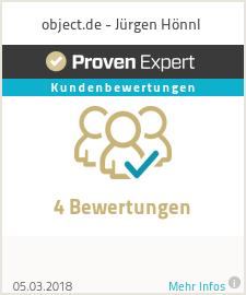 Erfahrungen & Bewertungen zu object.de - Jürgen Hönnl