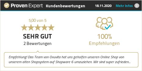Kundenbewertungen & Erfahrungen zu Oxuvita Int. GmbH. Mehr Infos anzeigen.