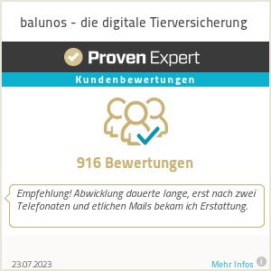 Erfahrungen & Bewertungen zu Balunos - die digitale Hundeversicherung