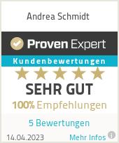 Erfahrungen & Bewertungen zu Andrea Schmidt