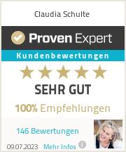 Erfahrungen & Bewertungen zu Claudia Schulte