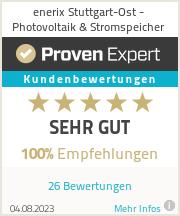 Erfahrungen & Bewertungen zu enerix Stuttgart-Ost - Photovoltaik & Stromspeicher