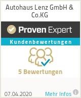 Erfahrungen & Bewertungen zu Autohaus Lenz GmbH & Co.KG