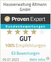 Erfahrungen & Bewertungen zu Hausverwaltung Altmann GmbH