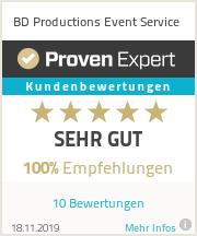 Erfahrungen & Bewertungen zu BD Productions Event Service