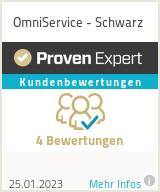 Erfahrungen & Bewertungen zu OmniService - Schwarz