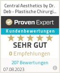 Erfahrungen & Bewertungen zu Central Aesthetics by Dr. Deb - Plastische Chirurgie Frankfurt