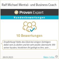 Erfahrungen & Bewertungen zu Ralf Michael Mental- und Business Coach