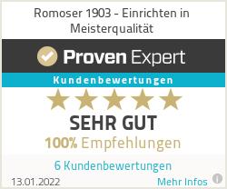 Erfahrungen & Bewertungen zu Romoser 1903 - Einrichten in Meisterqualität