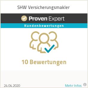 Erfahrungen & Bewertungen zu SHW Versicherungsmakler
