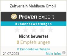 Erfahrungen & Bewertungen zu Zeltverleih Mehlhose GmbH