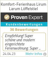 Erfahrungen & Bewertungen zu Komfort-Ferienhaus Lirum Larum Löffelstiel