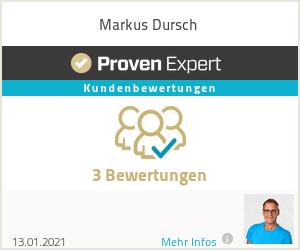 Erfahrungen & Bewertungen zu Markus Dursch