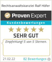 Erfahrungen & Bewertungen zu Rechtsanwaltskanzlei Ralf Höfer