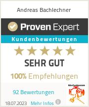 Erfahrungen & Bewertungen zu Andreas Bachlechner