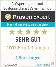 Erfahrungen & Bewertungen zu Aufsperrdienst und Schlüsseldienst Wien Haimov