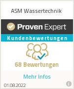 Erfahrungen & Bewertungen zu ASM Wassertechnik