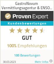 Erfahrungen & Bewertungen zu GastroNovum Vermittlungsagentur