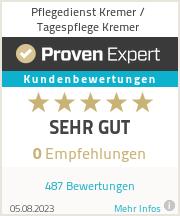Erfahrungen & Bewertungen zu Pflegedienst Kremer / Tagespflege Kremer