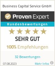Erfahrungen & Bewertungen zu Business Capital Service GmbH