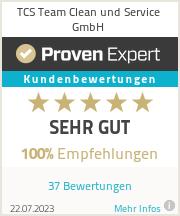 Erfahrungen & Bewertungen zu TCS Team Clean und Service GmbH