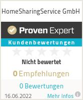 Erfahrungen & Bewertungen zu HomeSharingService GmbH